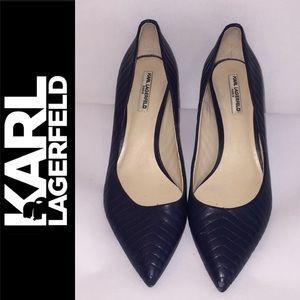 Karl Lagerfeld Paris Blue Rosette